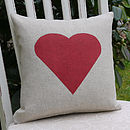 Heart Linen Cushion