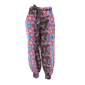 25% Off Floral Print Harem Yoga Pants - women's fashion sale