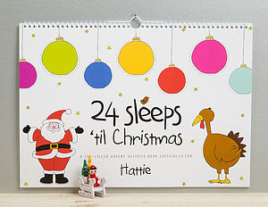 Personalised 24 Sleeps Christmas Advent Book - books