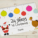 Personalised 24 Sleeps Christmas Advent Book