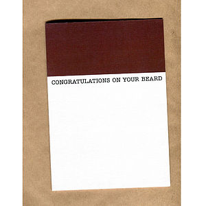 'Congratulations On Your Beard' Card