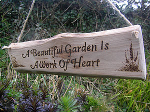 Natural Woodland Wood Gardeners Sign - art & decorations