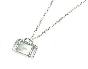 Silver Or Gold Suitcase - charm jewellery