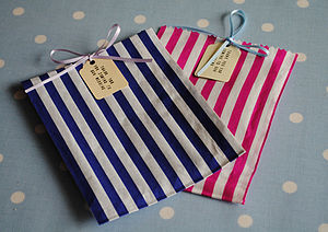 Pack Of 25 Striped Sweet Bags - table decorations