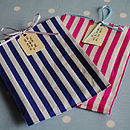 Pack Of 25 Striped Sweet Bags