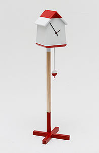 Bird House Clock - decorative accessories