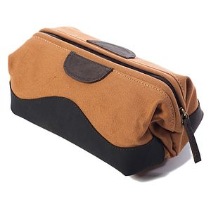 Cameo Canvas Wash Bag - wash & toiletry bags