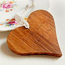 Personalised Wooden Heart Keepsake Decoration