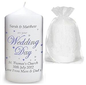 Personalised Wedding Candle - bedroom