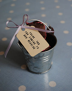 Set Of 10 Mini Silver Favour Buckets
