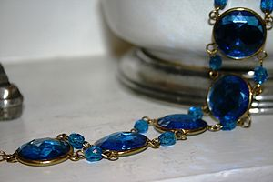 Gatsby Cobalt Bracelet And Earrings - bracelets & bangles