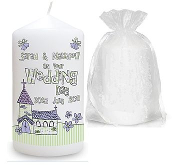 Personalised Church Wedding Candle