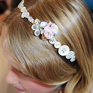 Bespoke Vintage Flowergirl China Flower Hairbands - wedding fashion