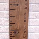 Kids Rule personlalised growth chart in Aged Oak (Imperial)