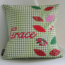 Personalised Leaves Cushion
