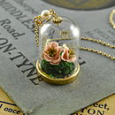 Glass Bottle Terrarium Necklace With Flowers