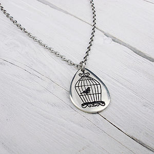 Bird Cage Chain Necklace