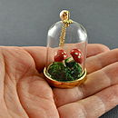 Toadstool Glass Bottle Terrarium Necklace