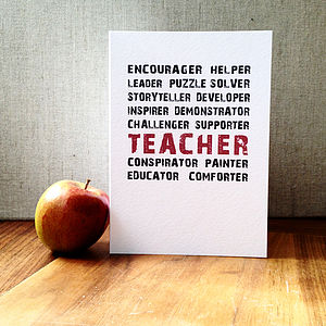 A Teacher Is Everything Card