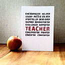 Thumb a teacher is everything card