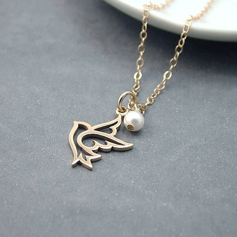 Gold Dove Necklace By Wished For Notonthehighstreet Com