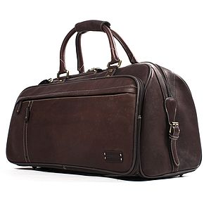 Explorer Leather Holdall Travel Bag