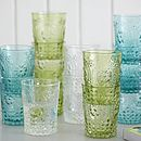 Coloured Glass Flower Tumblers