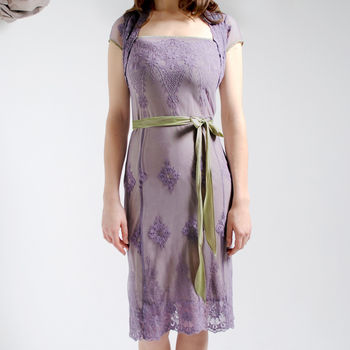 Purple Smoke Edie Lace Dress