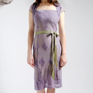 Purple Smoke Edie Lace Dress - best-dressed guest