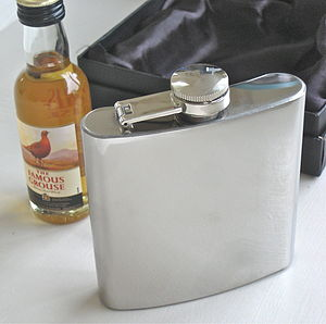 Boxed Hip Flask - men's accessories