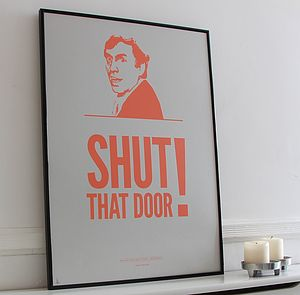 Larry Grayson Screenprint - gifts for the home