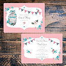 Vintage Tea Party - Wedding Invitation front and back