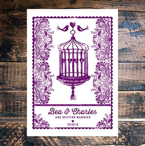 Birdcage Wedding Invtation - invitations