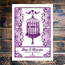 Beautiful Birdcage Wedding Invitation -Back