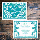 Forever My Love Wedding Invitation- Front & Back