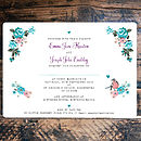 Flora Dreams Wedding Invitations- Back