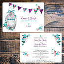 Flora Dreams Wedding Invitations- Front & Back
