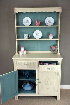 Hand Painted Vintage Oak Dresser