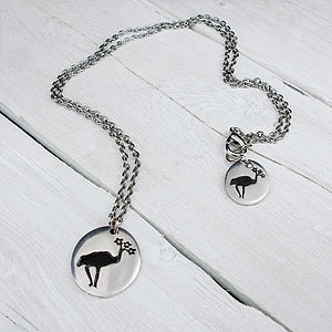 Bird Flower Chain Necklace - necklaces & pendants