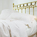 Cream French Toile Quilted Pillowcase