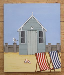 """Seaside Hut"" Canvas - art & pictures"