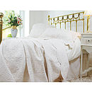 Cream French Toile Quilted Bedspread