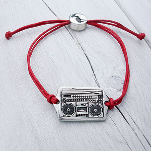 Ghetto Blaster Friendship Bracelet - men's jewellery