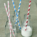 Pack Of 25 Striped Party Straws
