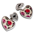 Rose Heart Cufflinks