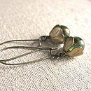 Vintage Style Tulip Earrings - green