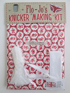 Flo Jo's Knicker Making Kit Scarlet & Olive - shop by price