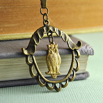 Bronze And Brass Owl Necklace