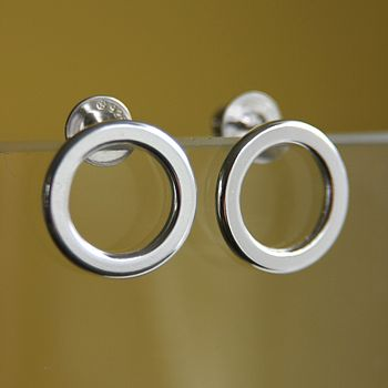 Garland Silver Stud Earrings (small)