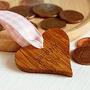 Personalised New Baby Wooden Heart Keepsake